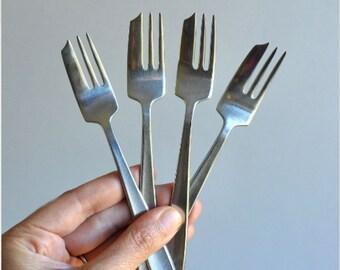 """Gense Sweden """"Facette"""" Dessert / Salad Forks & RARE Dessert Cake Forks"""