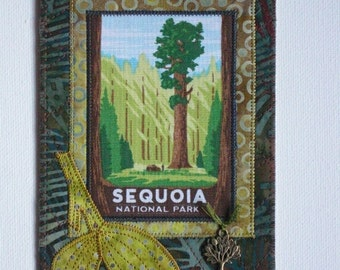 Sequoia National Park Card Postcard Birthday Her Him Friend Housewarming Thank You Frame Hi Room Decor Wish You Were Here Gift Fabric 4x6