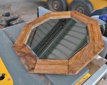 Mesquite Framed Beveled Mirror