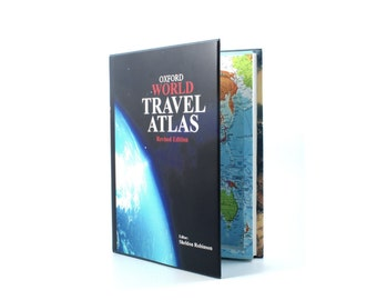 XL Travel Atlas - Book Safe Secret Storage Hollow Book
