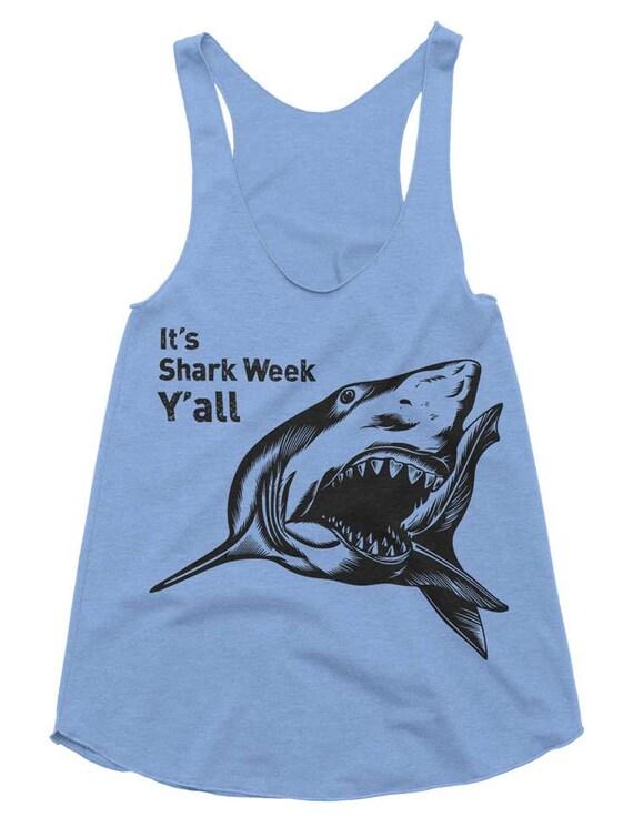 It's Shark Week Y'all Tri-Blend Racerback Tank - American Apparel Tanktop - XS S M L (Color Options)