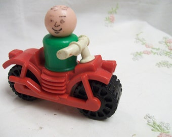 Fisher Price Motorcycle  with  LP Rider Vintage