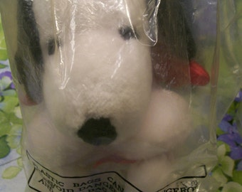Snoopy Plush Toy Snoopy with Cupid Wings  Valentine Hallmark Sealed in Package Circa 1990s Gift for Snoopy Lover Valentines Day