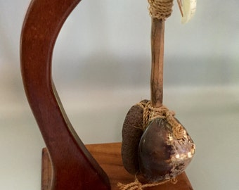 Vintage Koa wood display hanger fruit hanger