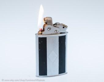 Working Art Deco Thorens Large Oriflam Sport Vintage Pocket Lighter