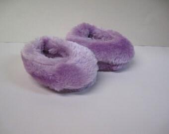 Purple Fuzzy Slippers