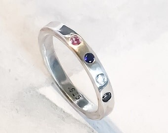 Birthstone Family Ring // Personalized // Design Your Own
