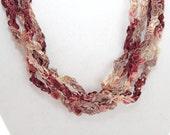 Desert Rose  - Crocheted Necklace