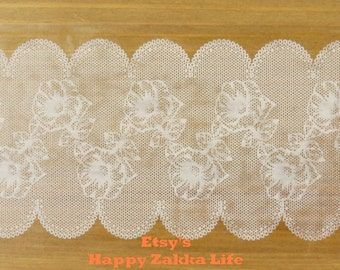 Translucent Wide Sticker Tape - White Lace Vol. 2 - Ver. 9 - 48mm Wide - 16 Yards