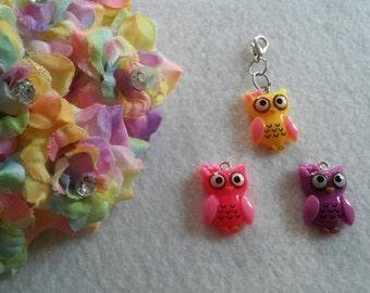 10 Owl Zipper Pull Party Favors
