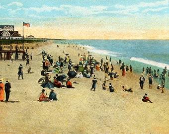 Rehoboth Beach, Delaware Vintage Illustration digital download