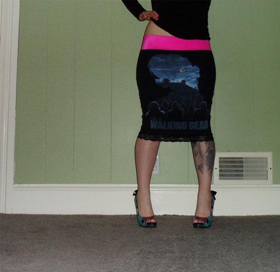 walking dead parade black pencil skirt