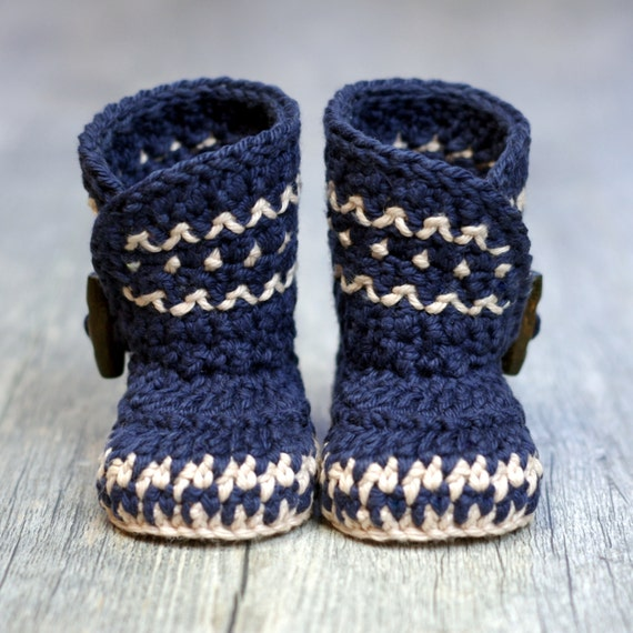 Crochet Pattern - Dakota Baby Boot - Boy - Girl -  Instant Download -  PDF K