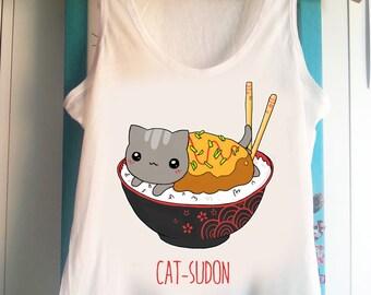 Catsudon (Katsudon) -  Tank Top Sleeveless t-shirt