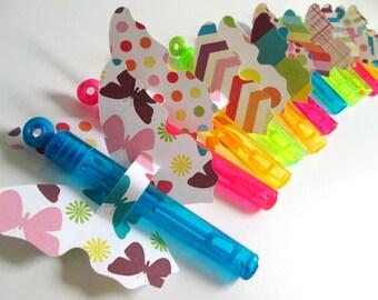 Butterfly Favors Bubble Favors Rainbow Favors Mini Bubble Wands Bubbles Fiesta Birthday Favors Bubble Wand Favors Party Favors Cumpleaños