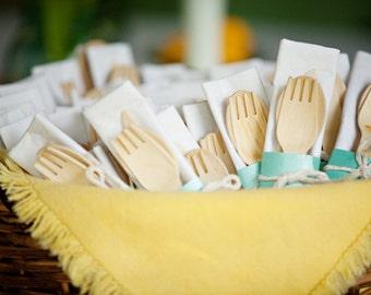 Utensils Wood Utensils Party Utensils Birthday Utensils Birthday Favors Party Favors Table Utensils Tableware Wood Forks Wood Spoons Knives