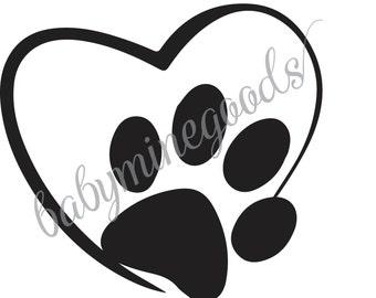 Dog Paw, Heart Dogs, Heart Dog Paw, Dog Paw Graphic, Dog Paw SVG, Heart Dog Paw SVG, Heart Dog Paw Graphic, I Heart Dogs Paw