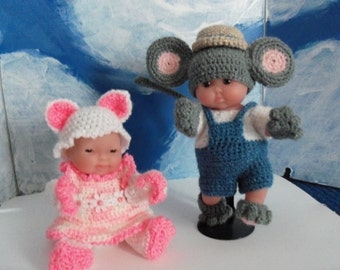 5 Inch Berenguer Dolls playing Cat and Mouse