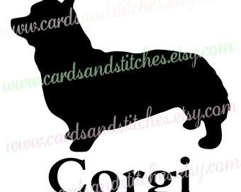 Corgi SVG - Dog Silhouette SVG - Cricut SVG - Digital Cutting File - Silhouette Cut File - Instant Download - Svg, Dxf, Jpg, Eps, Png
