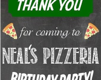 Pizza Party Favor Tag Digital or Printed Option