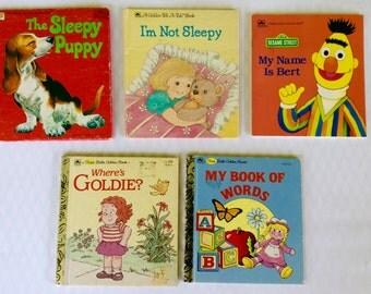 Vintage Children's Books Golden Books Tell-A-Tale-Book
