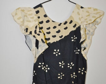 sale - MARIMEKKO Vintage 'Apron' Collectible and Rare Suomi Finland Vintage Textile Dress