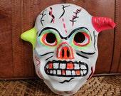 Vintage Skull Halloween Mask 1960