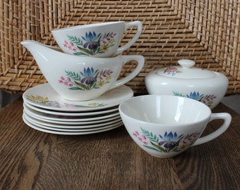 Vintage Wild Flower Tea Set