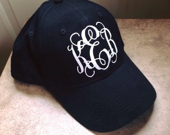 Vinyl monogram hat
