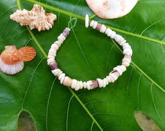 Pula Shell Bracelet Hawaiian Shell Jewelry Cone Shell Beach Bracelet Kauai Puka Shell Bracelet Island Seashell Jewelry- Eco Friendly