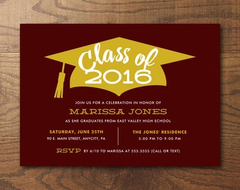 Printable 2016 Graduation Party Invitation