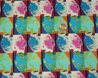 Reminds You of Andy Warhol cotton fabric 4 yards Hancock Fabrics