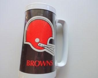 Vintage Thermoserv Cleveland Browns Stein