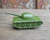 Vintage Soviet Russian Diecast Mlitary Tank Model