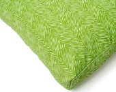 Green Herringbone Outdoor Waterproof Dog Bed / Charlie Cushion / Green and White Tough Dog Bed / Outdoor Dog Bed / Big Dog Bed