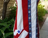 Adult Full Apron American Flag Unique July 4th Red White Blue One of a Kind Hostess BBQ Party Patriotic Nationalism Veterans Arvilla Ruby