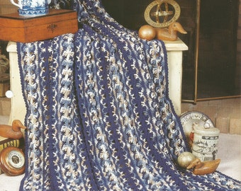 The Needlecraft Shop Country at Heart Twilight Afghan Collector's Series Pattern