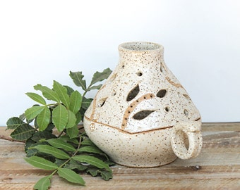 Handmade Ceramic Lamp, Pottery Candle Holder, Ceramic Candle Holder, Candle Keeper