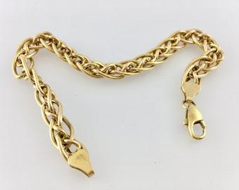 Yellow Gold Link Bracelet - Charm Bracelet - 9k Gold - 5.8 grams