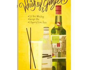 iCanvas How to Create a Whiskey & Ginger Gallery Wrapped Canvas Art Print by 5by5collective