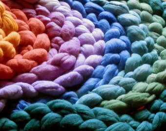 Uruguayan extrafine 19 mic  Merino hand dyed wool top roving 5 any colors x 3 oz (100gr)