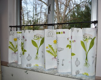 Wildflowers curtain etsy for Ikea cafe curtains