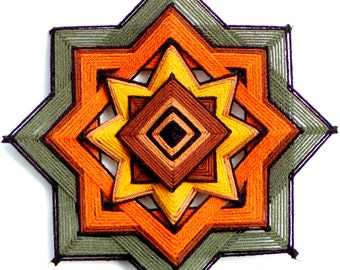 Harvest Moon (12 inch yarn mandala / god's eye/ ojo de dios )