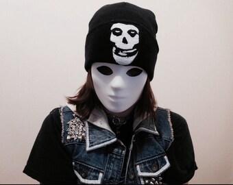 misfits fiend skull black beanie center