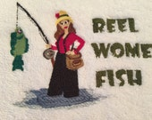 RESERVED for MM - Reel Women Fish Hand Towel