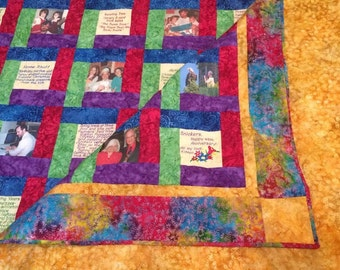 Create Your Own Photo Memory Quilt With Embroidered Sayings