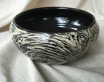 ouroboros ceramic bowl