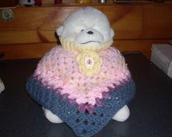 Fluffy Pastel Infant Poncho