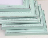 Mint Green Frame Hand Painted & Distressed Made to Order