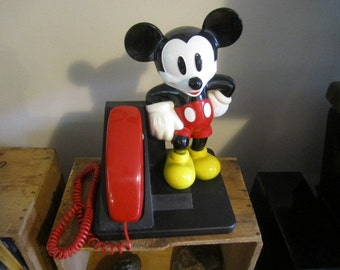 Mickey Mouse Touch Tone Telephone. Works Great. Disney Telephone.